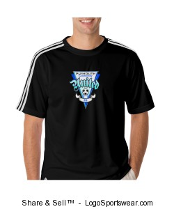 Adidas Mens Climalite 3-Stripes Tee Design Zoom